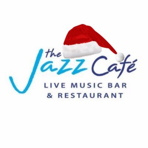 Jazz cafe with xmas hat